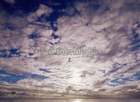 cloudscape over the sea