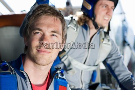 two male parachutists