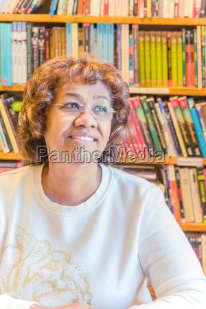 portrait of mature female senior student