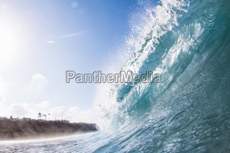 big ocean wave encinitas california usa