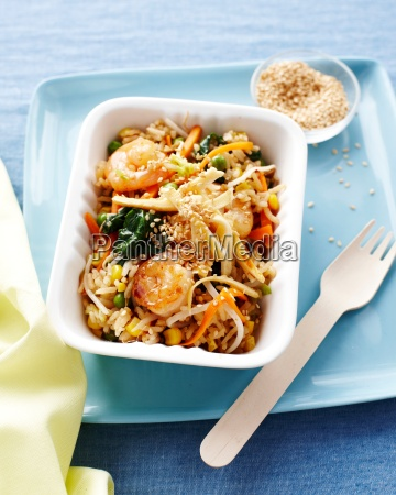 prawn egg fried rice in fast