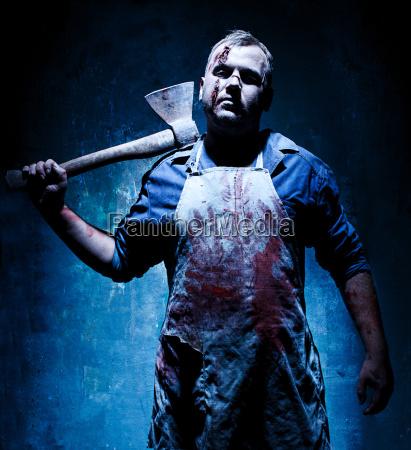 bloody halloween theme crazy killer as
