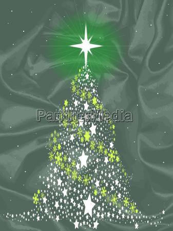 silk christmas tree