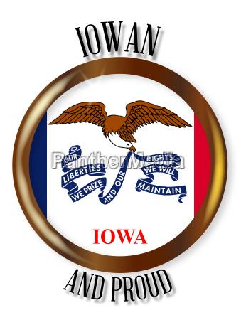 iowa proud flag button
