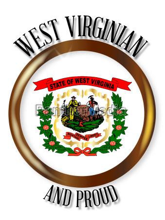 west virginia proud flag button