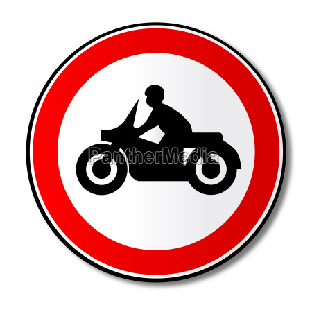 motorcycle round traffic sign