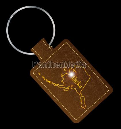 alaska leather key fob