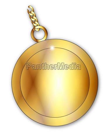 blank lucky gold charm