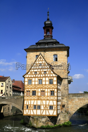 town hall on the bridge bamberg
