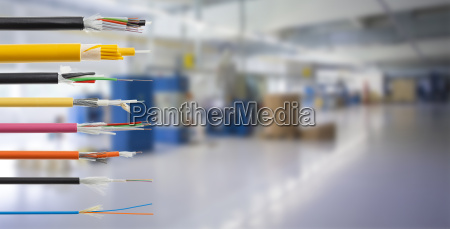 fiber optical cable detail isolated on