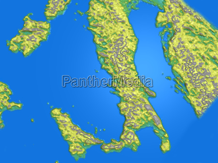 map italy greece