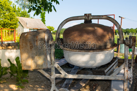 rusty concrete mixer