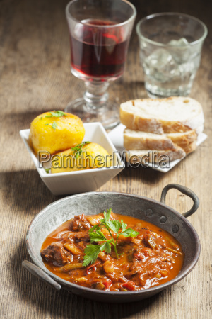 hungarian goulash in a pot
