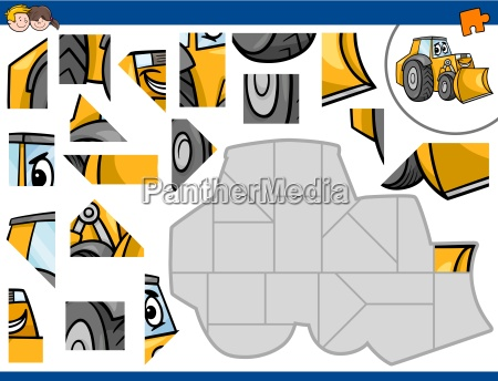 jigsaw puzzle with bulldozer
