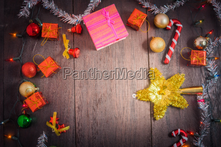 christmas gift box food decor and