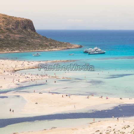 balos beach at crete island in