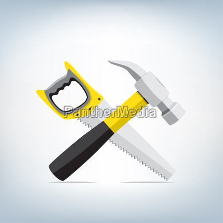 hammer and a saw icon