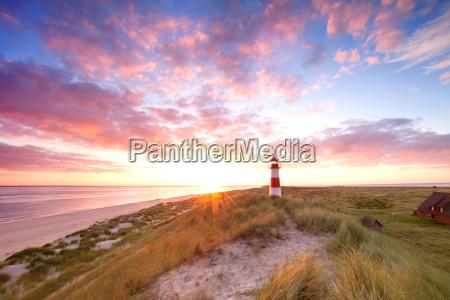 lighthouse sylt sunrise