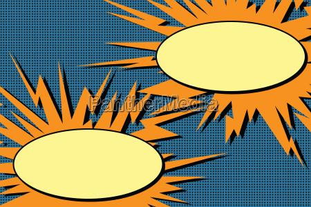 comic book dialogue bubbles explosion pop