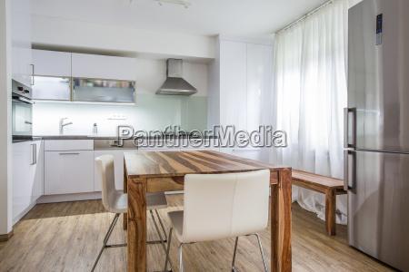 modern kitchen interior design architecture stock