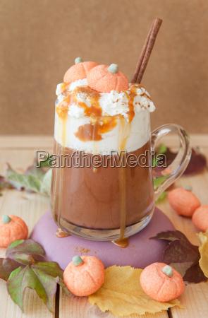 caffe latte with kuerbisgeschmack