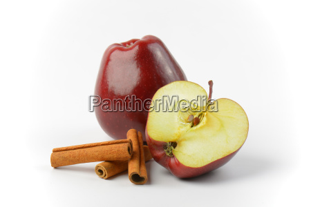 one and a half red apples