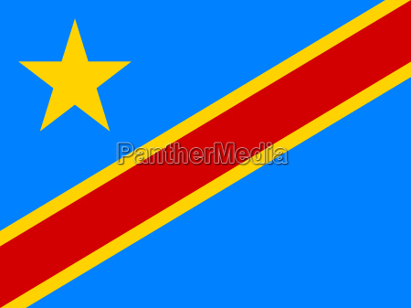 flag of dr congo in correct