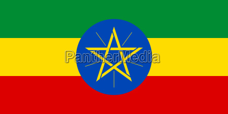 flag of ethiopia in correct proportions