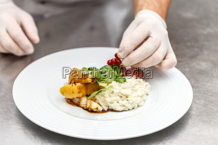 chef decorated plate