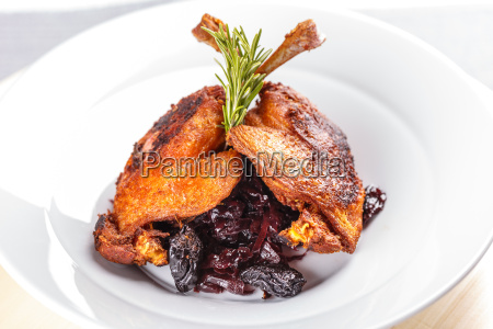 roasted duck leg