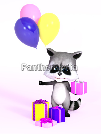 3d rendering of a cute cartoon