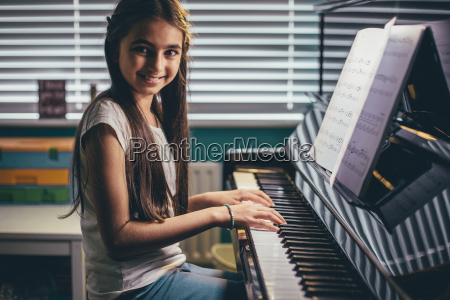 young pianist at home
