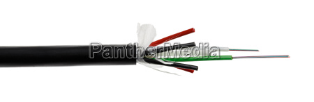 fiber optic cable detail isolated on