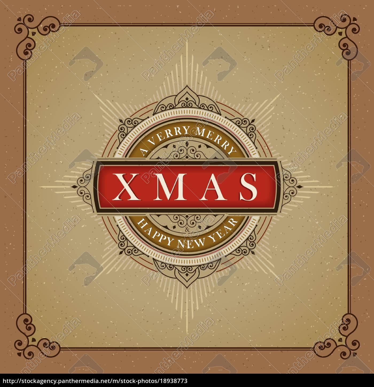 vector, luxury, elegant, christmas, and, happy - 18938773