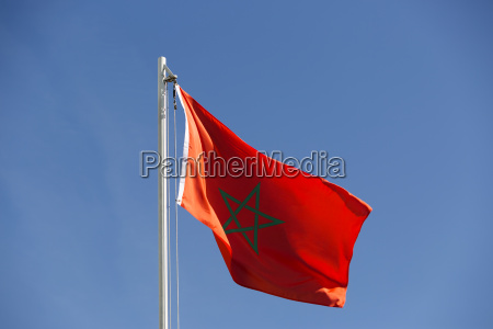 national flag of morocco on a