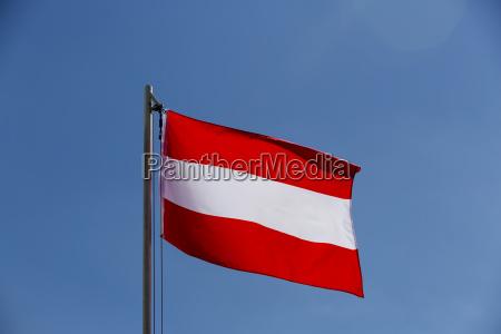 national flag of austria on a