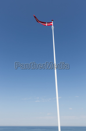 danish flag in the wind against