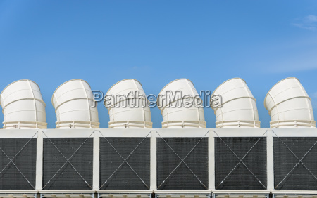industrial cooling towers or air cooled