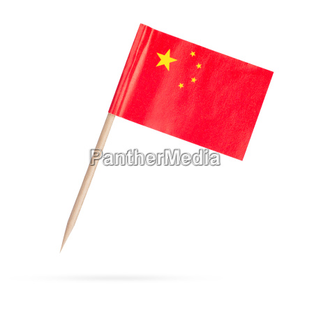mini flag china isolated on white
