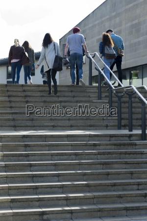 walking back to class