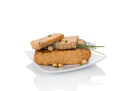tempeh isolated on white