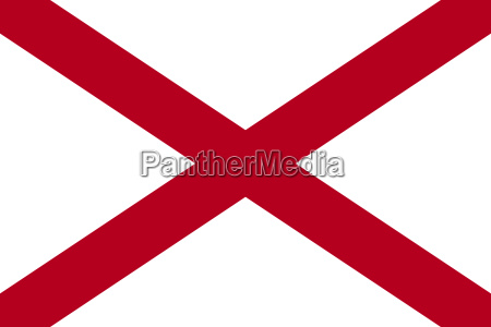 flag of alabama in correct proportions