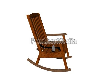teak rocking chair free