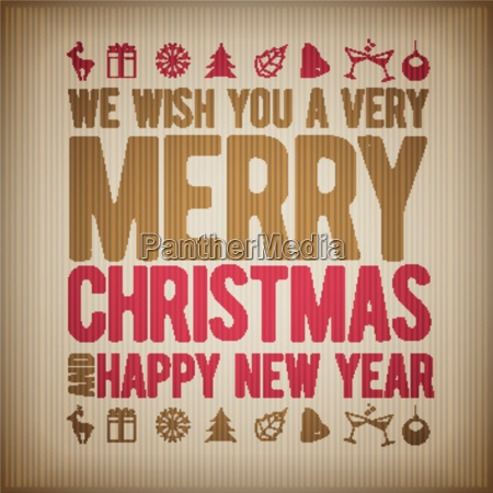 vector retro christmas and new year