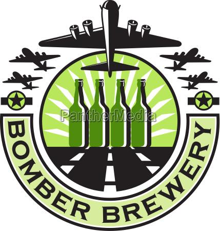 b 17 heavy bomber beer bottle