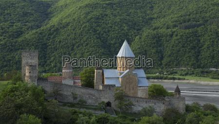 ananuri fortress with church near tbilisi