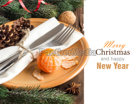festive table setting with spices and