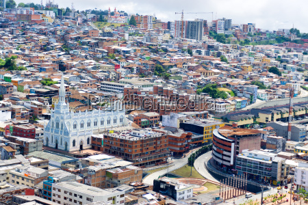 cityscape and church in manizales