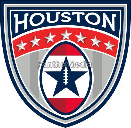 american football houston stars stripes crest