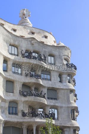 casa mila modernist building designed